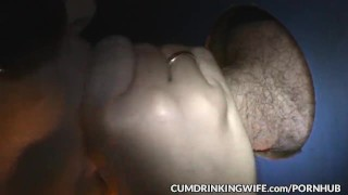 Slutwife is servicing strangers at gloryholes and adult theaters  doggy style swingers creampie cuckold wife amateur gloryhole milf cumshots cock sucking brunette glory hole cumdrinkingwife