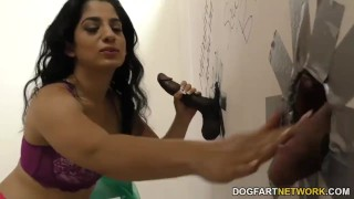 Nadia Ali having fun with black cock in a gloryhole  big cock bbc blowjob gloryhole cumshot pakistani fetish big dick hardcore interracial dogfartnetwork uniform facial big boobs stripping