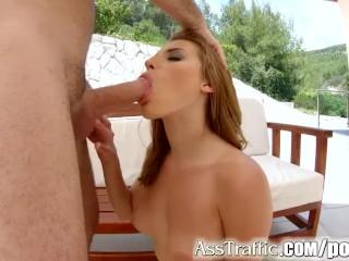 Asstraffic Victoria Daniels hardcore anal sex outdoors