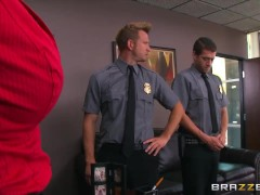 Brazzers – Ashley Adams gets pounded by two cops