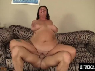 Mature plumper Lauren Fun taking a fat dick