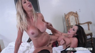 Ariella Ferrera's Early Christmas present is Puma Swede lesbian Milf fun