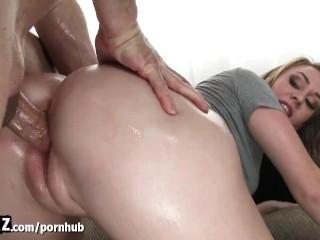 WANKZ - Hot Blonde Gets Her Big Booty Fucked!
