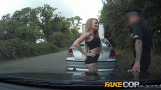 Preview 4 of Fake Cop Tiny bodied slut fucked in police car