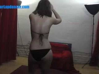 Czech bikini girl lapdances for stranger
