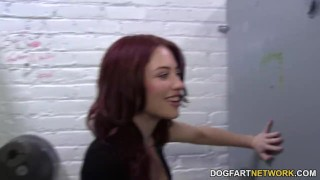 Jessica Ryan cheats her boyfriend in a gloryhole  big cock blowjob gloryhole pornstar cumshot fetish big dick hardcore handjob dogfartnetwork facial glory hole natural tits redhead cheating dogfartnetwork.com
