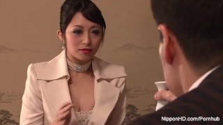 Elegant brunette gets her hairy pussy filled with cum hardcore milf mom hairy natural-tits japanese creampie small-tits cum-inside nipponhd missionary uncensored jav