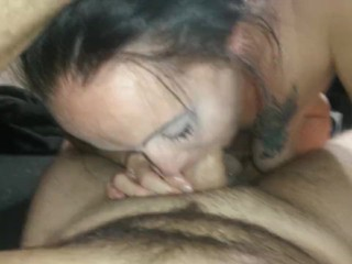 Sucking his dick until he comes in my mouth