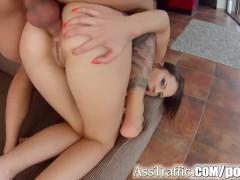 Ass Traffic Cum swallow after hard anal sex