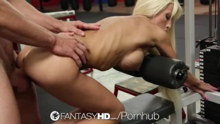 FantasyHD - Rikki Six works out her skinny body with sex