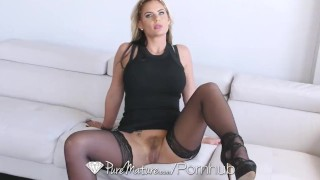 PureMature - Sexy Phoenix Marie in black lingerie is fucked