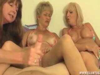 Three grannies handjob
