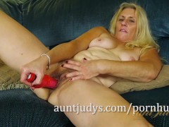 Cristine Ruby Teases Her Pussy with a...