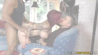 Anna Bell Peaks sucks monster cock at Cuckold Sessions  doggy style big tits big cock bbc cuckold squirt redhead blowjob tattoo fetish big dick hardcore interracial huge cock big boobs dogfartnetwork fake tits