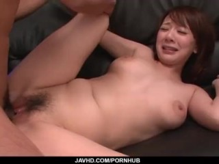 Arisa Araki endures cock in each of her tight holes