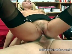 Grandpas fucking a younger blonde cum loving whore