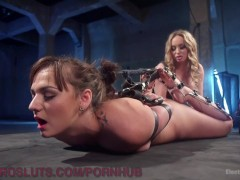 Hogtied Pussy Gets Electrified