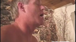 Mature Guy Cums Only After A Pegging  strap on prostate massage white boots pegging bdsm couple femdom amateur fucking kink facesittingbutts older man female domination adult toys
