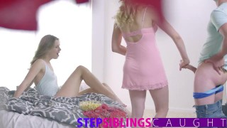 Fucking my step sister and her hot friend  step-siblings teen step-brother brother-and-sister blonde blowjob bedroom hardcore stepsiblingscaught mia-malkova brother-fucks-sister step-sister 3some threesome small-tits