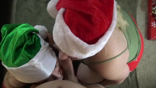 Preview 4 of Xmas Blowjob Sandwich