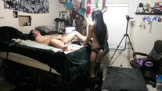 I fuck him with a dildo saw, peg his ass, and make him swallow his own cum!  ass fuck pegging his ass gia rose femdom strapon pegging hd pov guy tied to bed rough amateur painal bondage guy swallows his cum fucking machines master cujo strapless dildo anal snowball
