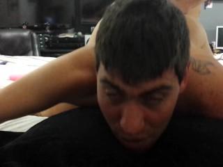 She fucked my ass hard painal pegging strapless dildo bondage femdom