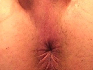 Butt-hole winking while cumming