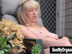 Busty Anneka Masturbating Outdoors
