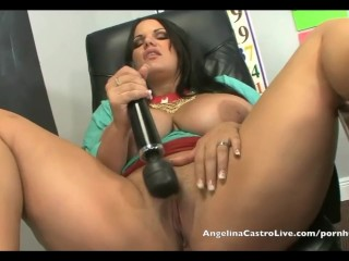 Angelina Castro Jerk Off instructions in Class!