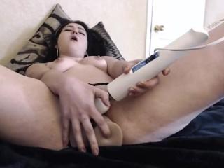 Alina Lane buttplug, lubed up dildo fucking cuming hard!