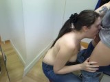Deepthroat in a changing room in local mall - Ruby Wise