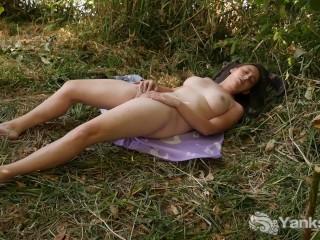 Tall Michelle Masturbating Outdoors