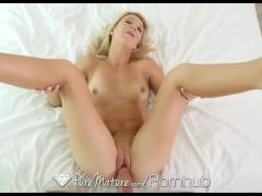 PureMature - Blonde Laura Bentley creampied in reverse cowgirl