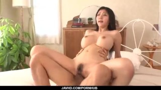 Big tits, Miho Ichiki, loves sucking and fucking  mmf orgasm doggystyle big boobs doggy style hardcore action javhd.com fake tits tit fuck reverse cowgirl double blowjob javhd