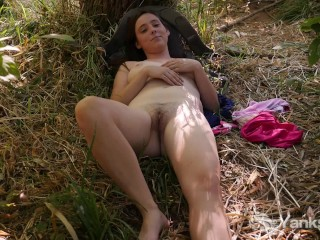 Busty Michelle Masturbating In The Nature