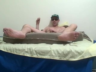 feet cam jerk and fuck-prt2