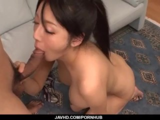 Miho Ichiki likes having cock inside her puffy vagina