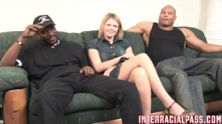 Emily takes the 2Big challenge and stretches out!!  big cock bbc lingerie interracialpass spanking stripping reverse cowgirl black blonde blowjob amateur cock sucking interracial 3some natural tits hushpass