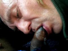 Sucking in the car, swallowing cum, Sasha Semoz public sucking