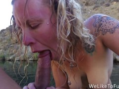 Girlfriend Loves Rough Fuck in Hot Spring