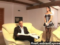 RealLesbianExposed – Lonely Housewife Fucks The Maid