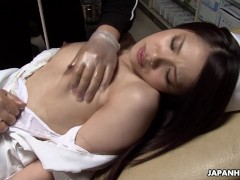 Asian nurse gets to suck adn fuck the patient