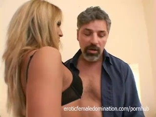 Horny Blonde Dominated By A Massive Cock