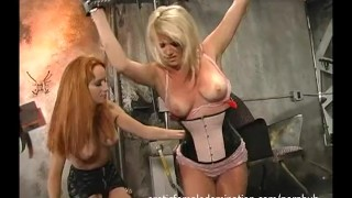 Preview 3 of Hot Slave Tortured By Her Topless Mistress
