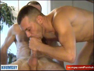 My str8 neighbour made a porn: watch his huge cock gets fucked by a guy!