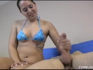 Bikini girl makes a boner explode