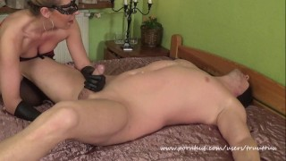 Amateur Couple Femdom Sex.(69, Prostate Massage, Face Sitting, Huge Squirt)  prostate massage face sitting squirt facesitting truutruu femdom handjob squirting orgasm handjob latex gloves adult toys huge squirt wax huge toys candle wax