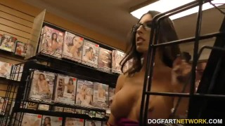 Dava Foxx sucks big dicks and fucked in the gloryhole  big cock hairy glasses blowjob gloryhole big dick busty interracial dogfartnetwork brunette reality gagging deepthroat big boobs fake tits