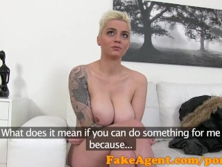 FakeAgent Short hair Austrian with big tits