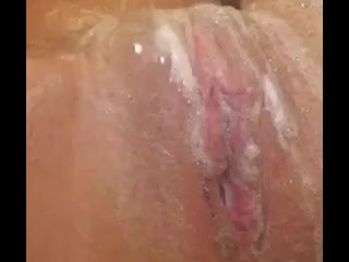 Sexy Bath Time Rubbing My Soapy Tits And Pussy